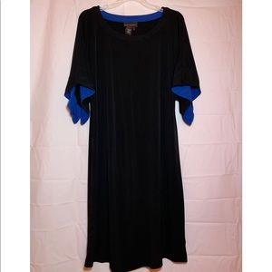 Black & Blue Business/Church Dress Wrinkle-Free